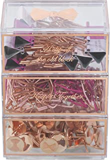 Ted Baker Desk Set with Paper Clips, Bulldog Clips, and Pins