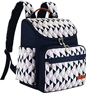 Diaper Bag Backpack With Baby Stroller Straps By HYBLOM, 12 Pockets Organizer