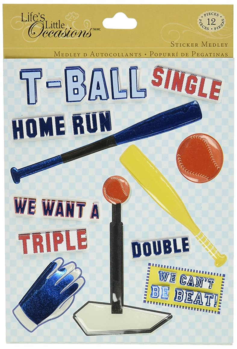 K&Company Life's Little Occasions Sticker Medley, T-Ball