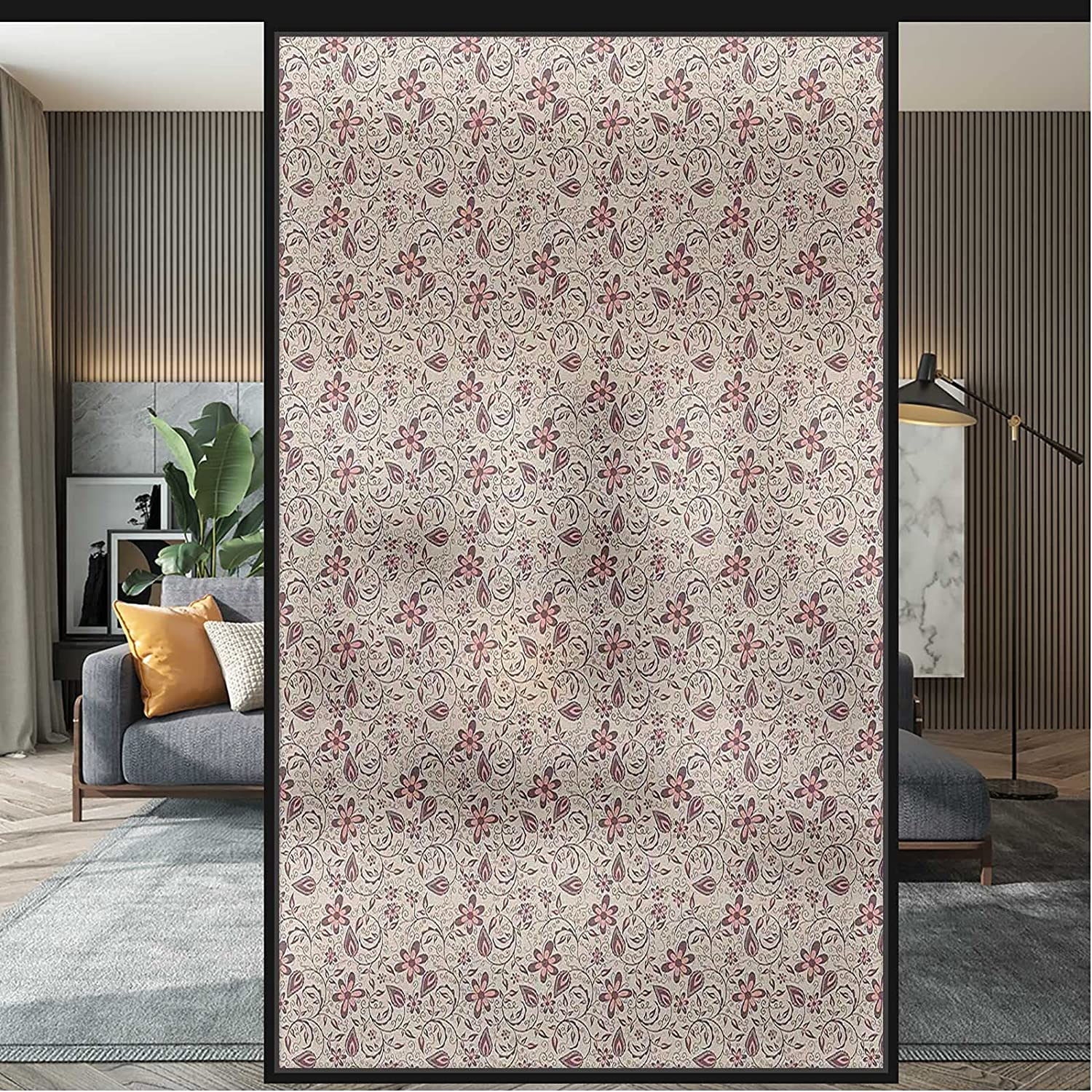 Today's Product only UV Window Film Retro Ornate Glass Wi Decoration Privacy Blossoms