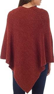 NOVICA Burgundy 100% Alpaca Wool Handmade Poncho, Autumn Splendor'