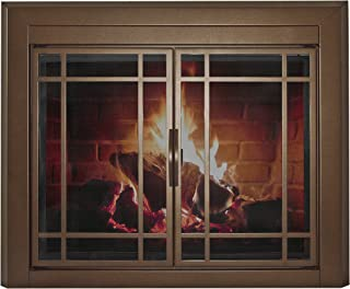 Pleasant Hearth EN-5501 Pleasant Hearth Enfield Glass Firescreen, Medium, Burnished Bronze