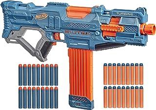 Nerf Elite 2.0 Turbine CS-18 Motorised Blaster, 36 Official Nerf Darts, 18-Dart Clip, Tactical Rails, Barrel Attachment Point