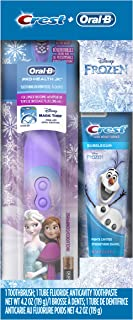 Oral-B and Crest Kids Pack featuring Disney's Frozen, Kids Fluoride Anticavity Toothpaste and Battery Powered Toothbrush (Brush Design May Vary)