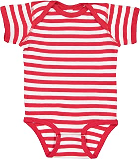red and white striped onesie