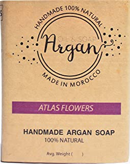 Argan Oil Soap 100% Organic Moroccan Handmade bar soap used as face, skin, body and bath soap   all natural handmade argan soap for natural body wash,made in morocco (FAST RESULT, BIG SIZE)