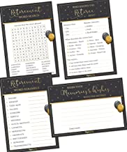 Retirement Party Games - Set of 4 Activities - (50 Cards Each, 200 Total) - Retirement Party Supplies