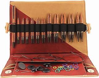 KnitPro Épingles à Tricoter : circulaires : interchangeables : spécial : Ensemble de Luxe, Assortiment, Coloris Assortis