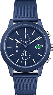 Lacoste Mens Quartz Watch, Chronograph Display and Silicone Strap 2010970