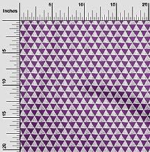 oneOone Cotton Silk Fabric Geometric Block Printed Fabric 1 Yard 42 Inch Wide