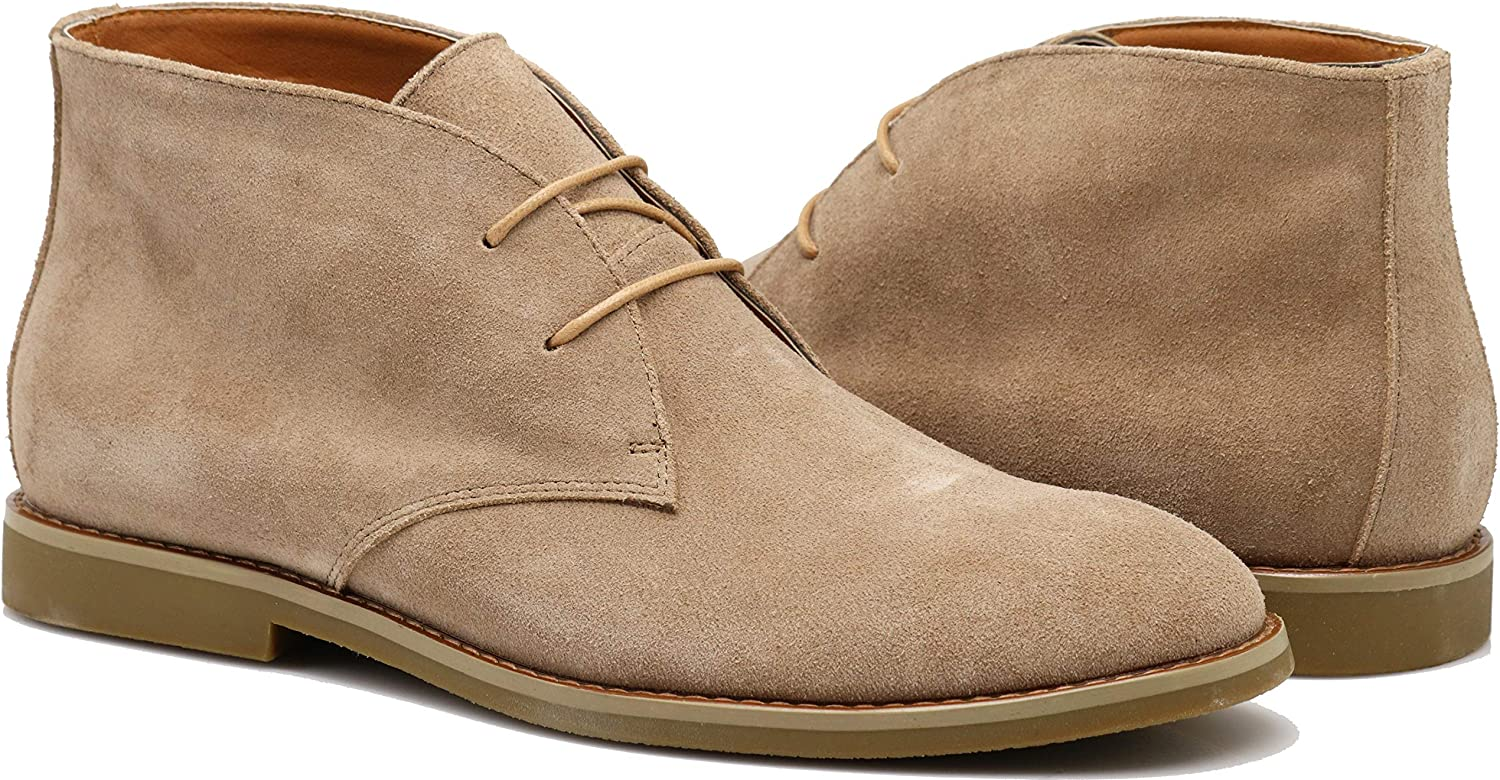 CO02 Men's Chukka Ankle Boots Dress Fashion Oxfords Suede Leather Boots