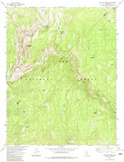 California Maps - 1982 Balloonome, CA USGS Historical Topographic Map - Cartography Wall Art - 35in x 44in
