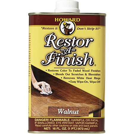 Howard Products RF4016 Restor-A-Finish, 16 oz, Walnut, 16 Fl Oz