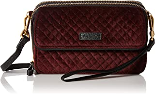 Women's Velvet RFID All in One Crossbody Wristlet