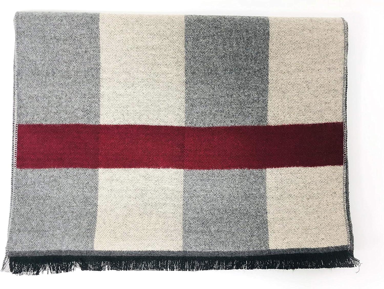 Jiesmart Long Plaid Blanket Winter//Fall Warm Scarf Big Tartan Scarves Wrap Shawl
