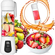 Portable Blender Lacomri � Powerful Crusher for Frozen Fruits and Veggies � Travel Blender � Cordless Blender � Portable Blender USB Rechargeable � Personal Blender � Mini Blender with Stainless-Steel Blades � Ideal for Healthy Juices and Smoothies