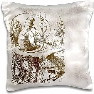 3dRose Caterpillar on Mushroom Vintage Alice in Wonderland - Pillow Case, 16 by 16-inch (pc_110199_1)