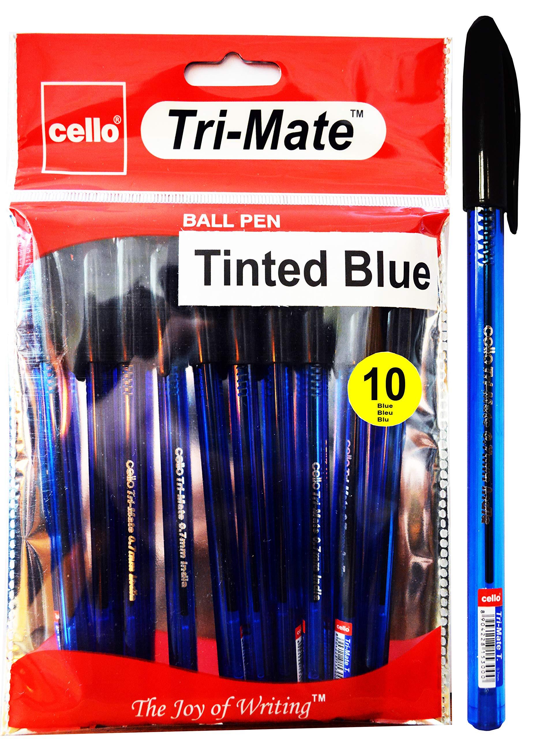 BIC violonchelo barril Tri-Mate Original Triangular Bolígrafo Punto Fino Negro Blu