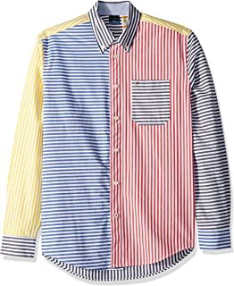Tommy Hilfiger Men's Adaptive Magnetic Long Sleeve Button Shirt Custom Fit