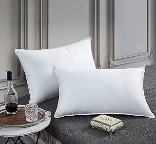 Egyptian Bedding Goose Down Pillow - 1200 Thread Count Egyptian Cotton, Medium Firm, King Size