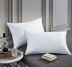 Luxurious Goose Down Pillow - 1200 Thread Count Egyptian Cotton, Medium Firm, Standard/Queen Size