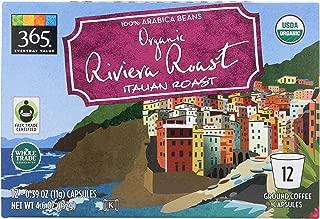 365 Everyday Value, Organic Riviera Roast Italian Roast Coffee Capsules, 12 ct