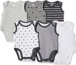 Amazon Essentials 6-Pack Sleeveless Bodysuits Unisex-Bimbi 0-24