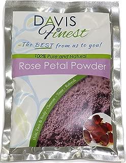 Rose Petal Powder for Hair and Skin - Pure Natural Rejuvenating Moisturising Antiageing Cooling Face Mask Skin Lightener Brightener Even Tone Complexion (100g)