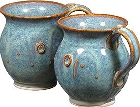 Handmade Irish Coffee & Tea Mugs. Set of Two Hand-Thrown Cups 300ml