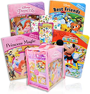Disney Princess Look and Find Books Bundle Featuring Belle, Cinderella, Mickey, Lion King, and More ~ 4 Disney Look and Fi...