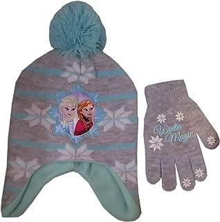 Disney Girls Frozen Winter Hat and Matching Glove / Mitten – Sizes Toddler/Little kids