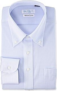 [フレックスジャパン] ハイブリッドセンサー 形態安定 吸水速乾 ストレッチ 汗消臭 高通気性 長袖 ニット ワイシャツ DWHS14 メンズ