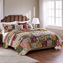 Greenland Home Antique Chic Cotton Patchwork Quilt Set, 5-Piece King/Cal King, Multi
