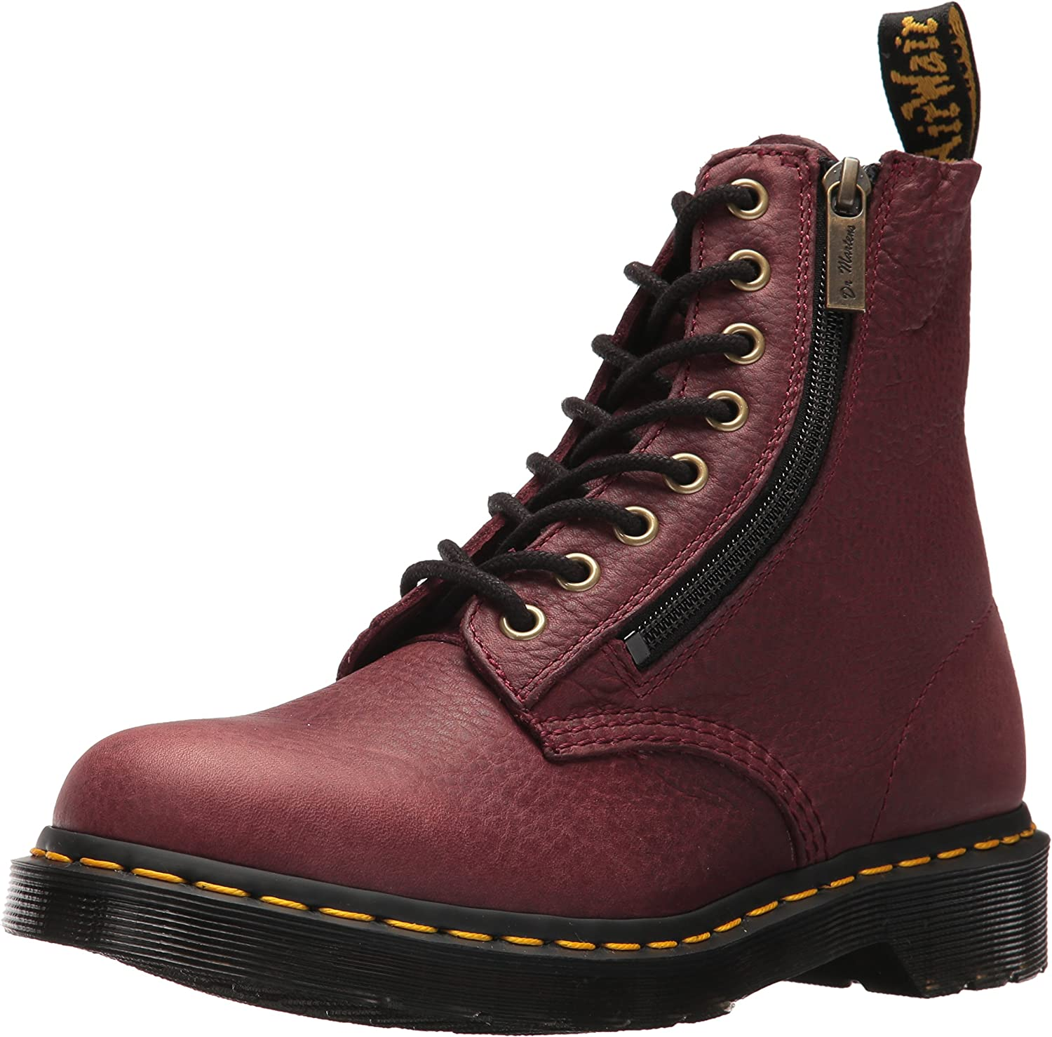 Dr. Martens Womens Pascal w Zip in Grizzly (Bovine) Leather Fashion Boot
