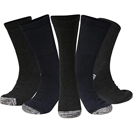 Kensington® Men's Work Socks Cotton Multipack Size 6-11 Anti Sweat Thick Boot Sock Heavy Duty for Men Working in Safety Boots Thermal Cushioned Sole Reinforced Heels and Toes for Steel Toe Cap Shoes