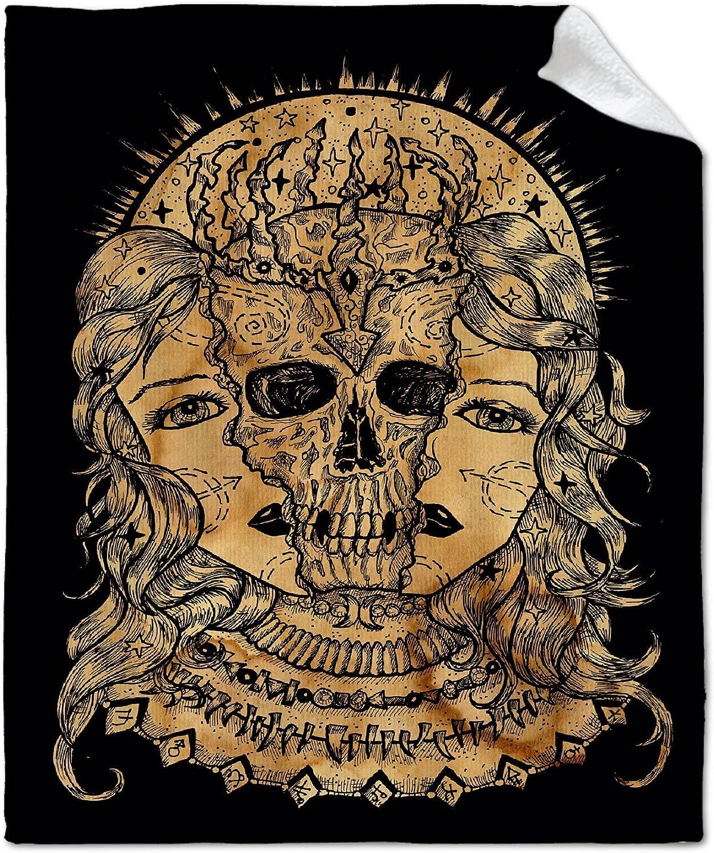 NIUJINMALI Golden Tarot Skeleton Throw Warm a Price reduction Super Blanket Soft Max 54% OFF