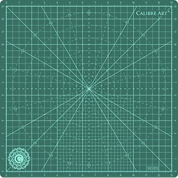 """Calibre Art Rotating Self Healing Cutting Mat, Perfect for Quilting & Art Projects, 14x14 (13"""" Grid)"""