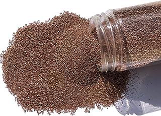 Fairy Tail & Glitzer Fee - Granulado de arena decorativa, 800 g, para rellenar vasos, jarrones o cuencos, decoración de mesa, color marrón tierra