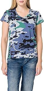 G-Star Raw Allover Camo Print V-Neck dames t-shirt