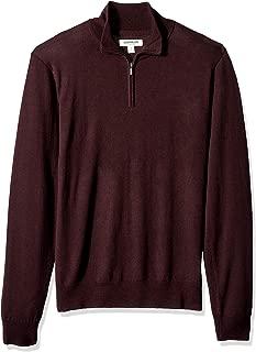 Goodthreads – Jersey de lana merino con cremallera corta para hombre