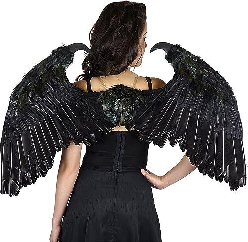 Ahorre 60% de descuento y envío rápido a todo el mundo. Small Maleficent-Inspirojo Feather Wings Standard Standard Standard  Precio por piso