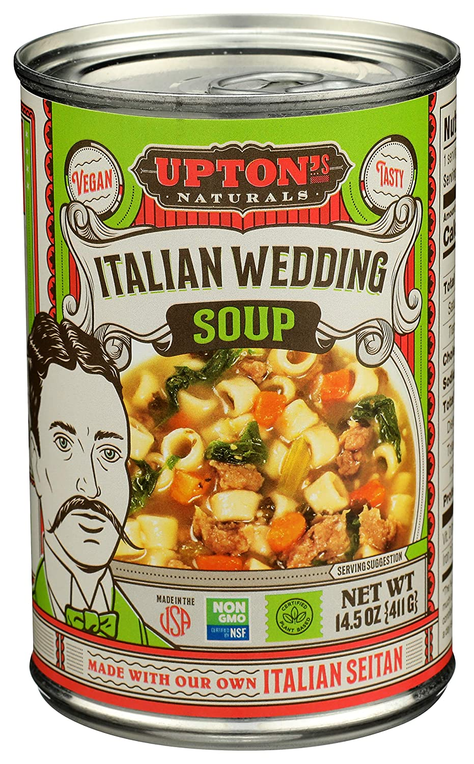 Upton's Naturals Italian Wedding 100% quality warranty! Today's only Soup 14.5oz case 8 of