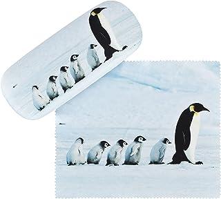 von Lilienfeld Pingouins Étui Lunettes Boîte Robuste Cadeau Étui Lunettes de Soleil Chiffon de Nettoyage