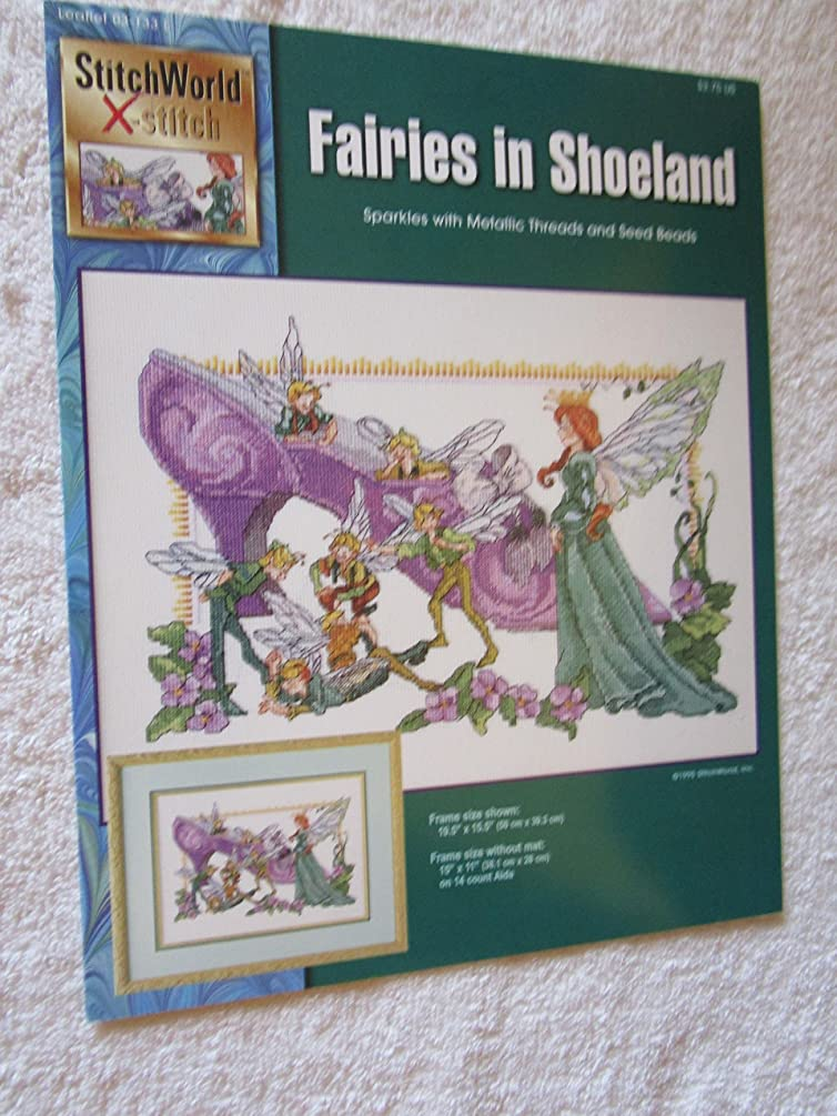 Fairies in Shoeland Counted Cross Stitch Chart