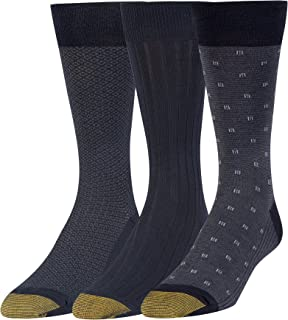 Gold Toe Men's Dress Crew Socks, 3 Pairs