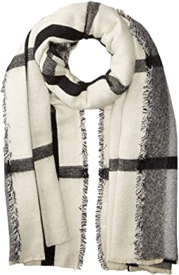 BSS3542 Oversized Plaid Scarf