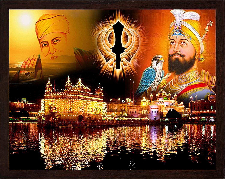 Guru Gobind Singh ji and nanak Super special price Golden eagle Te dev with Elegant