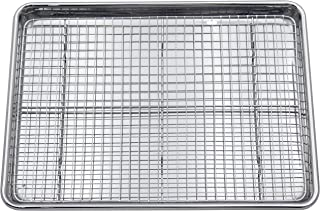 Checkered Chef Stainless Steel Baking Sheet With Rack - Heavy Duty Half Sheet Pan for Baking with Oven Safe Baking/Cooling...