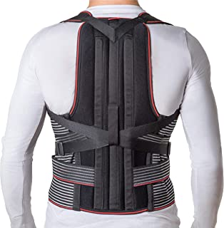JNTAR Back Brace Posture Corrector for Women & Men, Corset Provides Lumbar & Shoulders Support, Corrects Slouching & Bad Posture, Solution for Kyphosis & Scoliosis, Rigid Fixation (L/II (35-41