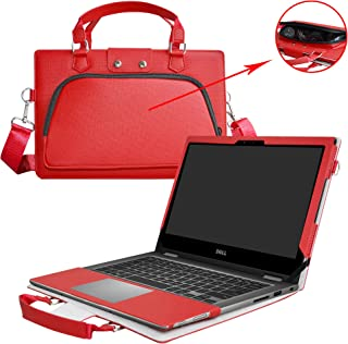 Inspiron 13 2-in-1 i7378 i7375 i7368 Case,2 in 1 Accurately Designed Protective PU Leather Cover + Portable Carrying Bag for 13.3